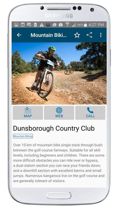 Mountain Biking Trail description in Margaret River Find the Fun